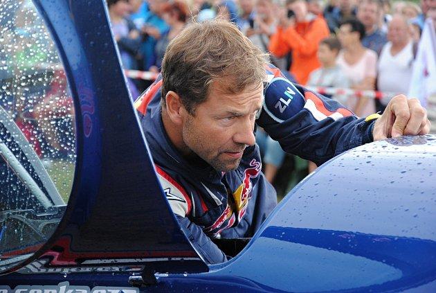 Průběžně vedoucí pilot letošní světové letecké série Red Bull Air Race Martin Šonka na leteckém dni vPoličné; sobota 27.července 2019