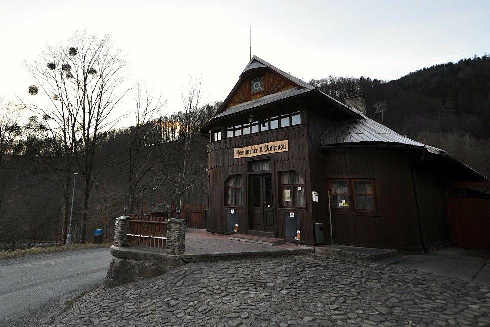 Obec Bystřička - restaurace U Mokrošů v sousedství přehrady Bystřička.