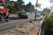 Dopravní nehoda v Horní Bečvě.