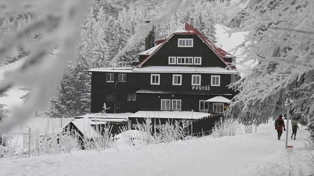 Horský hotel Portáš.