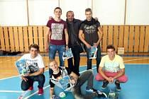 Vítězný tým. Uspěli studenti ze Vsetína.