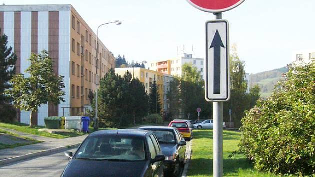 Parkování v Rokytnici