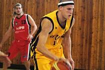 Meziříčský basketbalista Jan Stehlík.