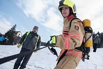 Eva Vojvodíková naposledy vyhrála ženskou kategorii Zimního železného hasiče ve svých domovských Velkých Karlovicích.