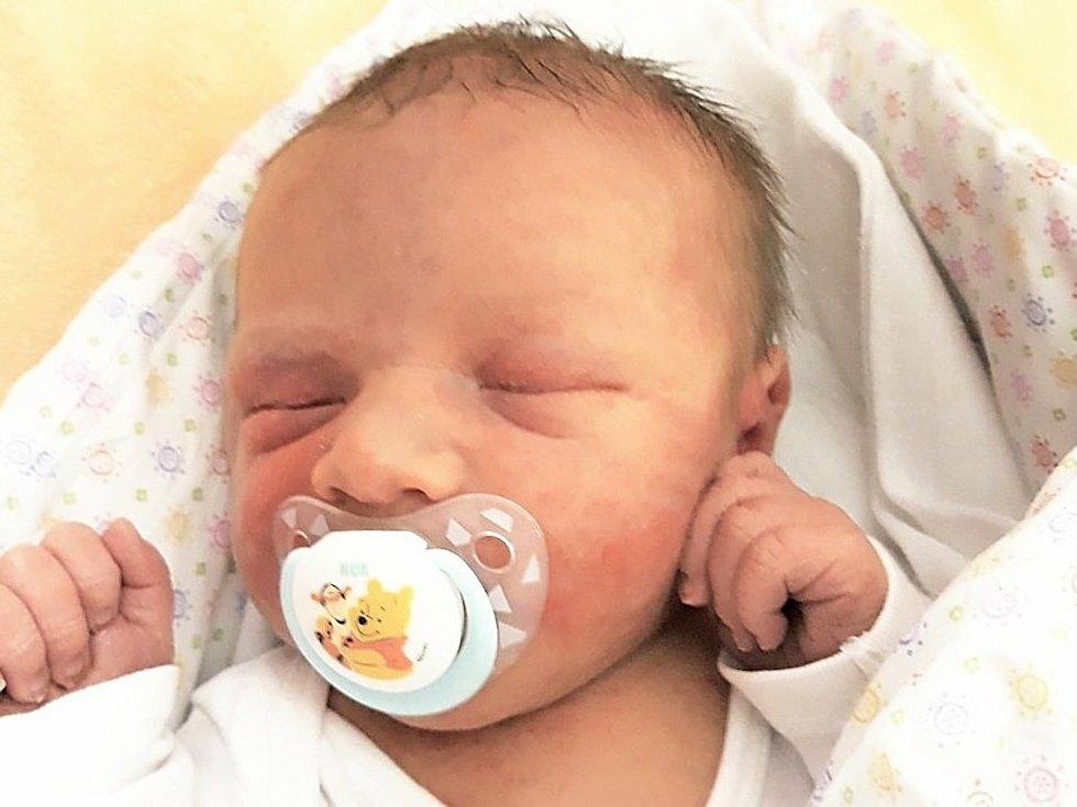 David Škrhla, Střítež nad Ludinou narozen 10. února 2021 ve Valašském Meziříčí, míra 51 cm, váha 4000 g