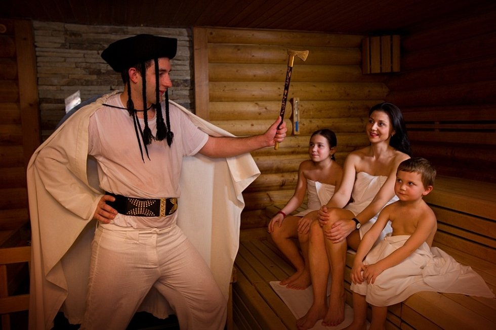 Dětský saunový rituál v hotel Horal.