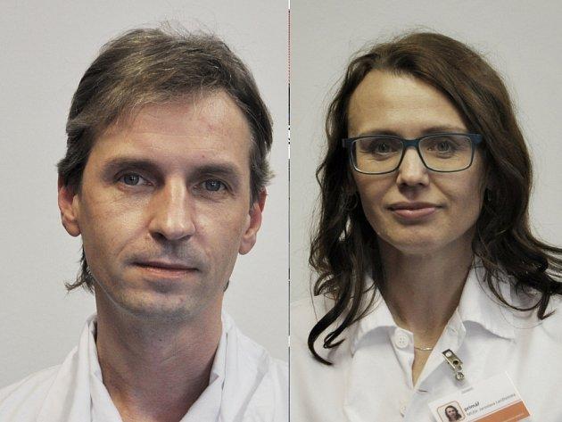 Noví primáři Vsetínské nemocnice: Tomáš Strnad a Jaroslava Lanžhotská.