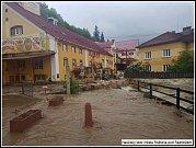 Blesková povodeň v Rožnově pod Radhoštěm; středa 22. května 2019