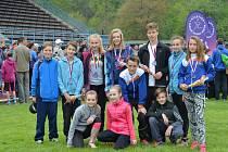 Úspěšný žákovský tým Sportovního klubu mládeže Valašské Meziříčí.