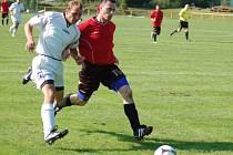 Fotbalisté Juřinky v Dolní Bečvě odmítli vítězství. V prvním poločase zahodili tři tutovky a nakonec odjeli s prázdnou. Domácí tým (světlé dresy) se zmátořil a nakonec vyhrál 3:1.