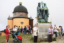 Cyrilometodějská pout na Radhošti.