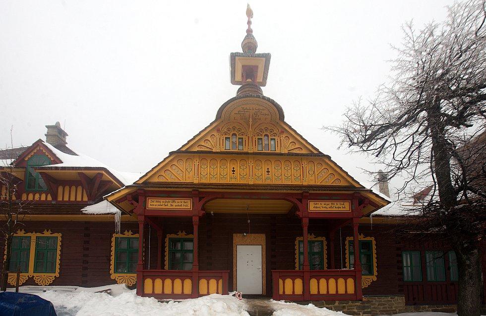 Libušín na Pustevnách - pokračující rekonstrukce 13. 1. 2020