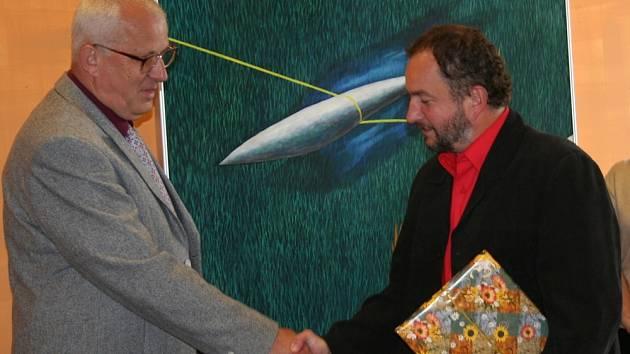 Jan Kincl (vlevo) a místostarosta Lubomír Gajdušek