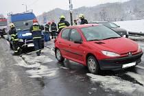 Dopravní nehoda v Zubří.
