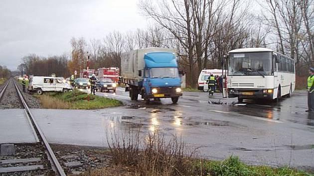 Nehoda u Stříteže nad Bečvou.