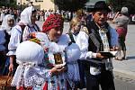 Tradiční krojovaná Anenská pouť v Rožnově pod Radhoštěm ((na snímku manželé Ladislav a Emilia Fojtáchovi); sobota 27. července 2019