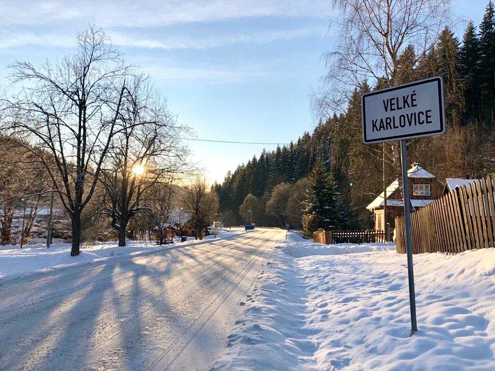 Velké Karlovice leden 2020