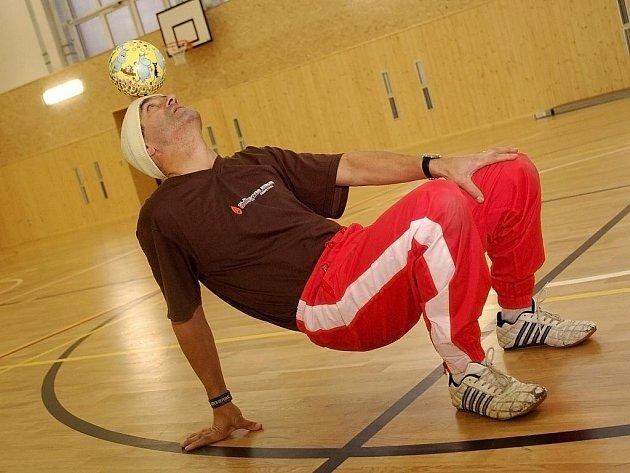Bursasu Charalambos při tréninku.