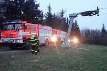 Na Kohútce hořela chata, zasahovaly čtyři jednotky hasičů.