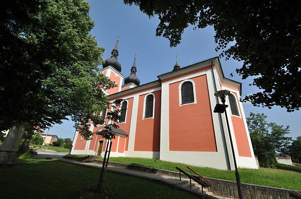 Zašová - poutní kostel Navštívení Panny Marie v Zašové.