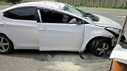 U dopravní nehody ve Vsetíně Rokytnici zasahovali profesionální hasiči jedoucí na soutěž.