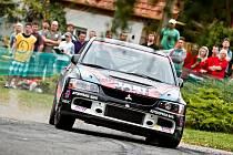 Posádka Pešl – Pešek na trati Horácké rally.