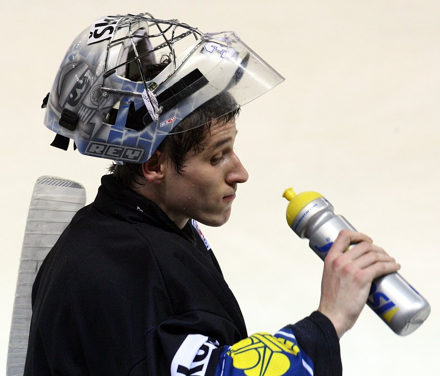Jakub Štěpánek během tréninku české hokejové reprezentace.