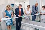 Slavnostní uvedení nového moderního počítačového tomografu (CT) do provozu ve Vsetínské nemocnici; červen 2019