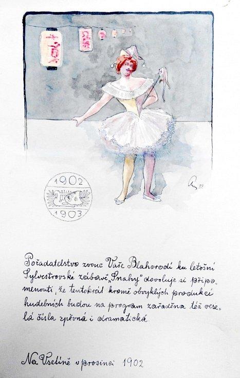 Pozvánka Snahy na Silvestr 1903