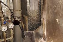 Požár v šachtě bytového domu ve Valašském Meziříčí