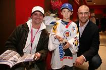 Valaši se v Praze potkali s hvězdami NHL.