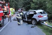 Nehoda u Trojáku si vyžádala čtyři zranění