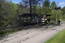 Požár udírny u fotbalového stadionu v obci Hutisko-Solanec