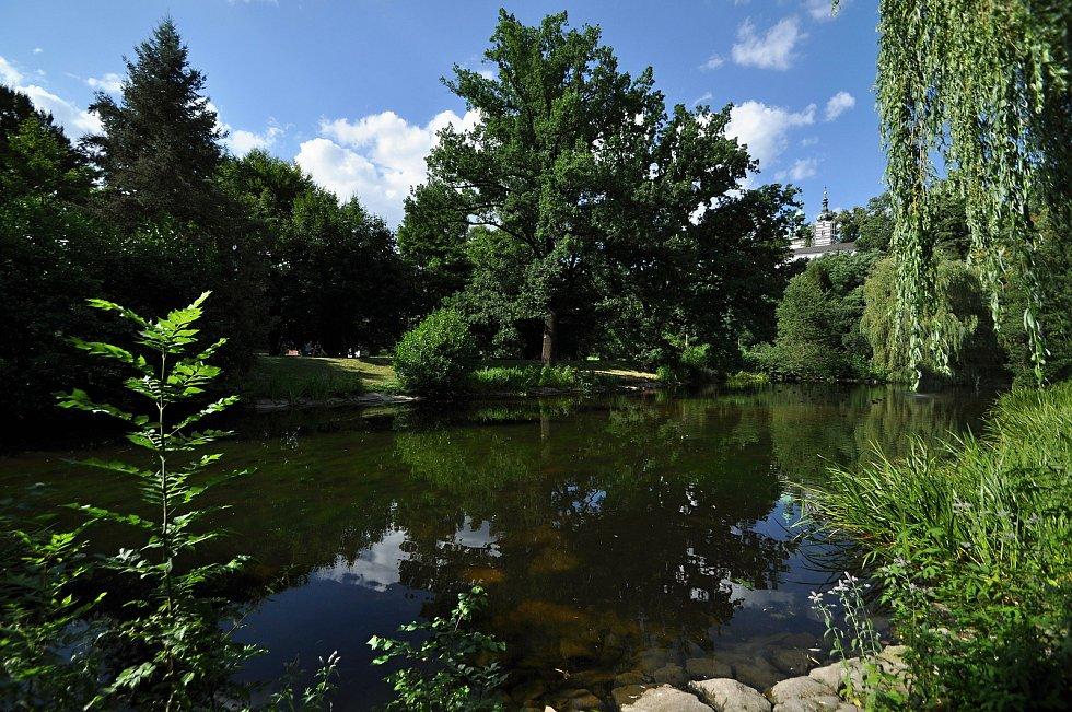 Vsetín - park Panská zahrada