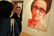 Ivana Štenclová nevystavuje poprvé. Její dílo viděli před časem lidé také ve Vsetíně (na snímku).