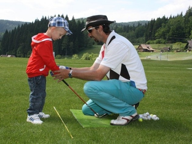 Dětský golf.