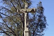 Kříž na starém hřbitově je dílo mistra Becka z Kroměříže.