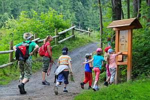 Kulíškova naučná stezka přibližující zajímavosti přírody Beskyd začíná přímo u nového Kulíškova dětského parku v Resortu Valachy ve Velkých Karlovicích.