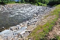 V Bečvě je málo vody