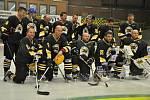 Repríza dvacet let starého extraligového finále mezi hokejisty HC Petra Vsetín a Chemopetrol Litvínov
