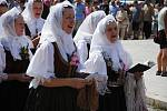 Tradiční krojovaná Anenská pouť v Rožnově pod Radhoštěm; sobota 27. července 2019