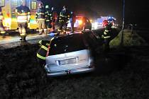 Řidička havarovala ve středu 13. listopadu 2019 na silnici I/35 u Zubří.