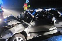 Tragická nehoda felicie u Velkých Karlovic