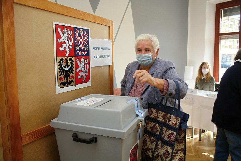 Ve volebním okrsku č. 13 na Masarykově gymnáziu ve Vsetíně hlasovali obyvatelé Vsetína 2. října 2020 v krajských volbách. Svůj hlas odevzdala také Emílie Hlavatá.