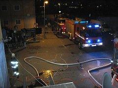 Požár bytu na ulici Poschla ve Vsetíně.