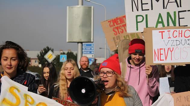 Stávka upozorňující na problém klimatu ve Vsetíně