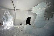 Ledové sochy 2019  Pustevny  Robert Musil Hořice  socha Drak