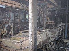 Požár v rožnovské galvanovně.