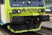 Vlak společnosti Arriva ve Vsetíně.