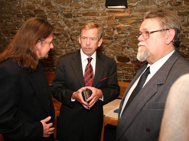 Váslav Havel při rozhovoru s autorem článku
